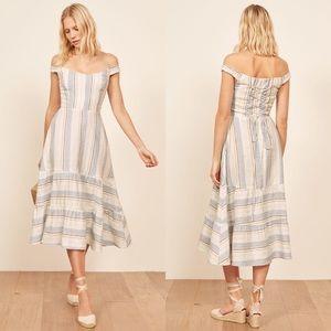 NWT Reformation Kate Dress in Napoli Stripe